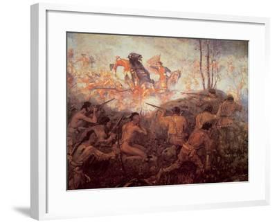 The Death of General Braddock Near Fort Duquesne-English-Framed Giclee Print