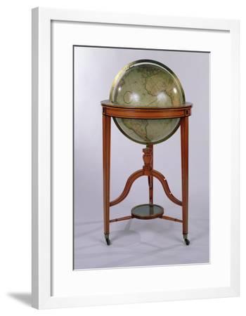 A Regency Terrestrial Library Globe on Mahogany Stand, 1806 (Mixed Media)-English-Framed Giclee Print