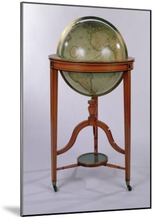 A Regency Terrestrial Library Globe on Mahogany Stand, 1806 (Mixed Media)-English-Mounted Giclee Print