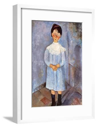 Girl in Blue, 1918-Amedeo Modigliani-Framed Giclee Print