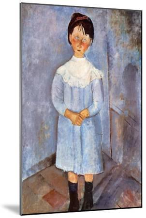 Girl in Blue, 1918-Amedeo Modigliani-Mounted Giclee Print