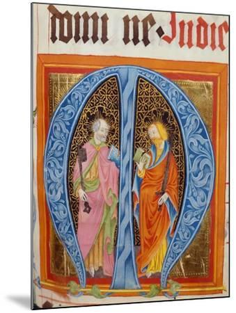 Historiated Initial 'M' with Saints Peter and Paul-German-Mounted Giclee Print