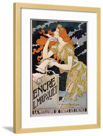 Poster Advertising 'L. Marquet Ink, the Best of All Inks', 1892 (Colour Litho)-Franz Grassel-Framed Giclee Print