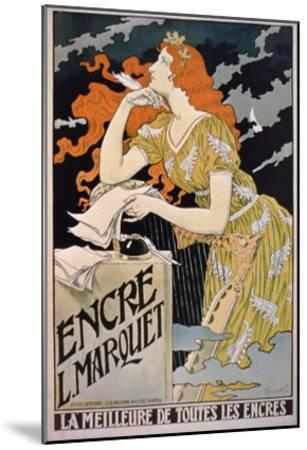 Poster Advertising 'L. Marquet Ink, the Best of All Inks', 1892 (Colour Litho)-Franz Grassel-Mounted Giclee Print