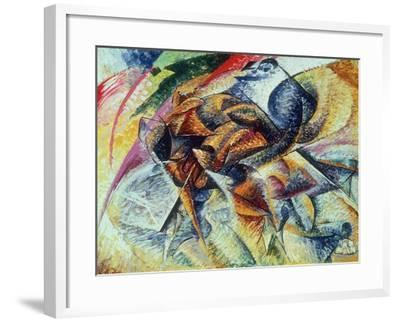 Dynamism of a Cyclist (Dinamismo Di Un Ciclista) 1913-Umberto Boccioni-Framed Giclee Print