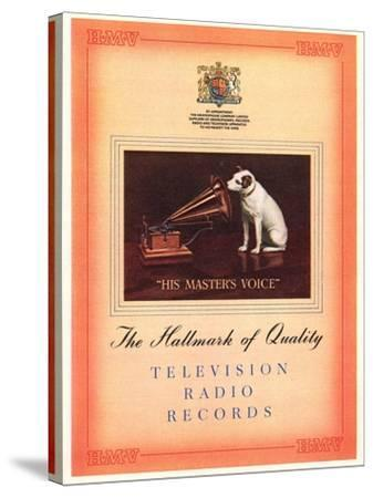 Advert for 'His Master's Voice', Illustration from the 'South Bank Exhibition' Catalogue-English-Stretched Canvas Print