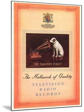 Advert for 'His Master's Voice', Illustration from the 'South Bank Exhibition' Catalogue-English-Mounted Giclee Print