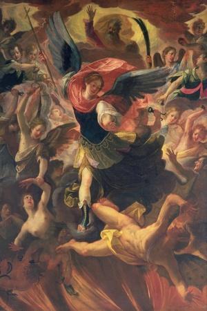 The Archangel Michael Vanquishing the Devil-Antonio Maria Viani-Stretched Canvas Print