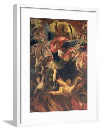 The Archangel Michael Vanquishing the Devil-Antonio Maria Viani-Framed Giclee Print