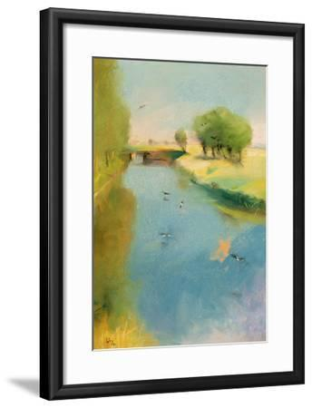 Canal, 1897 (Pastel on Canvas)-Lesser Ury-Framed Giclee Print