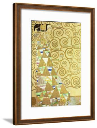 Study for Expectation, C.1905-09 (W/C and Gold on Paper) (See 65841)-Gustav Klimt-Framed Giclee Print