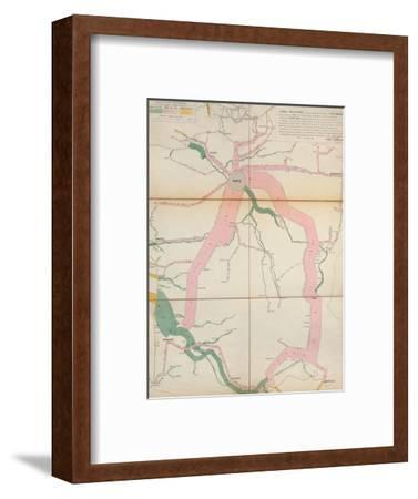 Map Representing the Approximate Tonnage of Wines and Spirits in Circulation in France in 1857-Charles Joseph Minard-Framed Premium Giclee Print