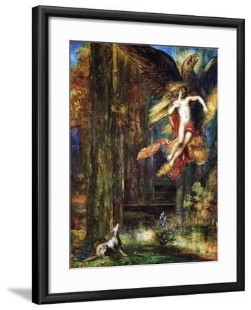 Ganymede, 1886 (W/C and Gouache on Paper)-Gustave Moreau-Framed Giclee Print