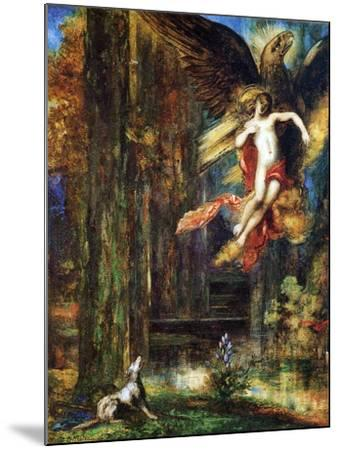 Ganymede, 1886 (W/C and Gouache on Paper)-Gustave Moreau-Mounted Giclee Print