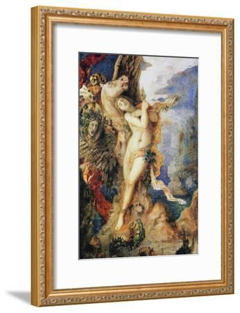 Perseus and Andromeda, C.1867-69 (W/C and Pen on Paper)-Gustave Moreau-Framed Giclee Print