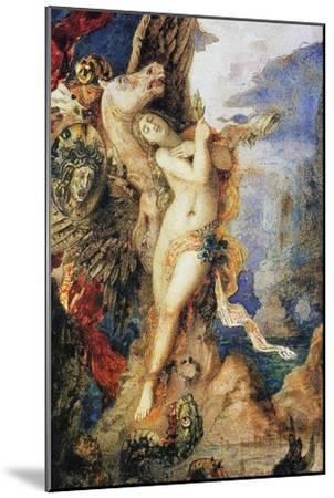 Perseus and Andromeda, C.1867-69 (W/C and Pen on Paper)-Gustave Moreau-Mounted Giclee Print