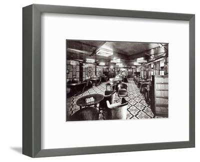 Reading Room on the Ocean Liner 'Ile De France', 1926 (B/W Photo)-French Photographer-Framed Premium Giclee Print
