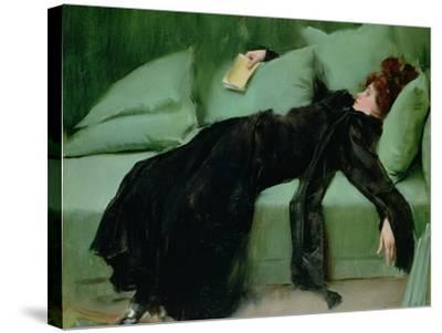 After the Ball-Ramon Casas i Carbo-Stretched Canvas Print