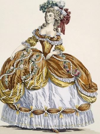 Grand Court Dress in New Style, Engraved by Dupin, Plate 291-Augustin De Saint-aubin-Framed Giclee Print