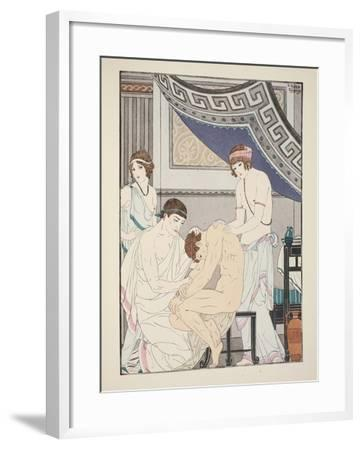 Chiropractic Adjustment, Illustration from 'The Works of Hippocrates', 1934 (Colour Litho)-Joseph Kuhn-Regnier-Framed Giclee Print