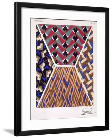 Plate 17, from 'Inspirations', Published Paris, 1930S (Colour Litho)- Gandy-Framed Giclee Print