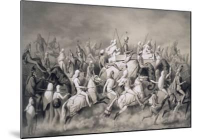 Chir Singh, Maharajah of the Sikhs and King of the Punjab with His Retinue Hunting Near Lahore-A. Soltykoff-Mounted Giclee Print