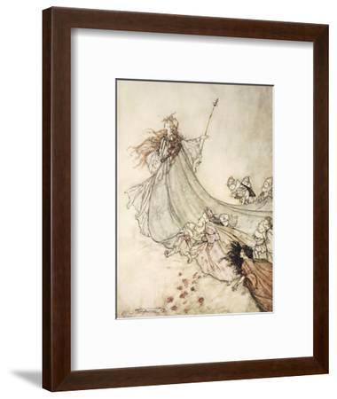 ..Fairies Away! We Shall Chide Downright, If I Longer Stay-Arthur Rackham-Framed Premium Giclee Print