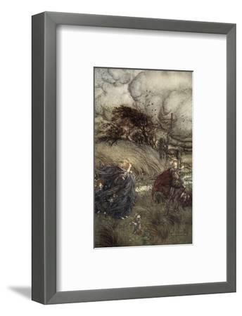 And Now They Never Meet in Grove or Green, by Fountain Clear or Spangled Starlight Sheen-Arthur Rackham-Framed Premium Giclee Print
