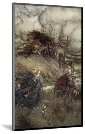 And Now They Never Meet in Grove or Green, by Fountain Clear or Spangled Starlight Sheen-Arthur Rackham-Mounted Premium Giclee Print
