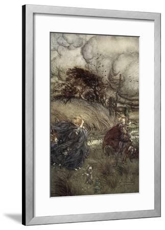 And Now They Never Meet in Grove or Green, by Fountain Clear or Spangled Starlight Sheen-Arthur Rackham-Framed Giclee Print