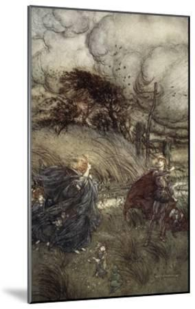 And Now They Never Meet in Grove or Green, by Fountain Clear or Spangled Starlight Sheen-Arthur Rackham-Mounted Giclee Print