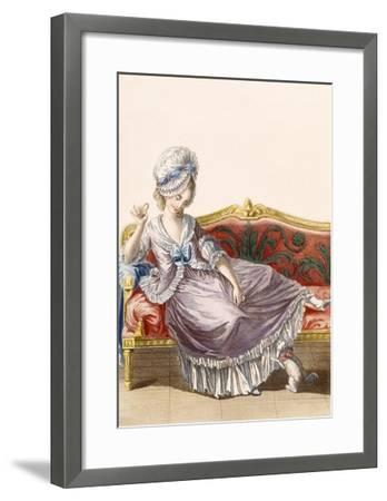 Cavaco a La Polonaise, Engraved by Dupin, Plate from 'Galeries Des Modes Et Costumes Francais'-Pierre Thomas Le Clerc-Framed Giclee Print