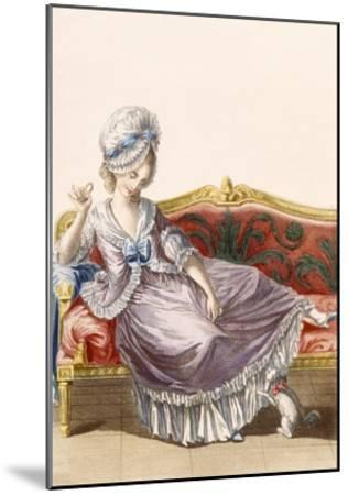 Cavaco a La Polonaise, Engraved by Dupin, Plate from 'Galeries Des Modes Et Costumes Francais'-Pierre Thomas Le Clerc-Mounted Giclee Print