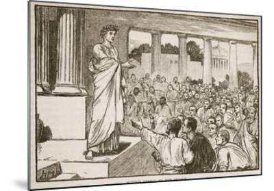 Scipio's Appeal to the People (Litho)-English-Mounted Giclee Print