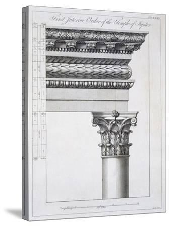 Order of the Portico to the Vestibulum in the Peristylium-Robert Adam-Stretched Canvas Print