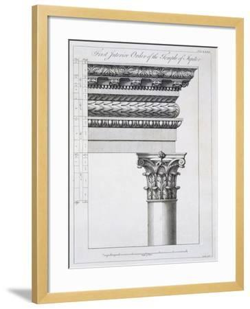 Order of the Portico to the Vestibulum in the Peristylium-Robert Adam-Framed Giclee Print