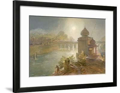 Indore, from 'India Ancient and Modern', 1867 (Colour Litho)-William 'Crimea' Simpson-Framed Giclee Print