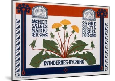 Poster Advertising the Womens' Building, Late 19th-Early 20th Century (Colour Litho)- Danish-Mounted Giclee Print