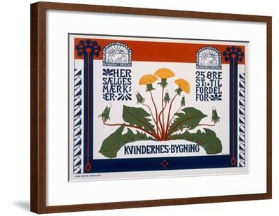Poster Advertising the Womens' Building, Late 19th-Early 20th Century (Colour Litho)- Danish-Framed Giclee Print