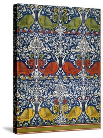Example of Printed Egyptian Fabric, 19th Century (Chromolitho)-Emile Prisse d'Avennes-Stretched Canvas Print