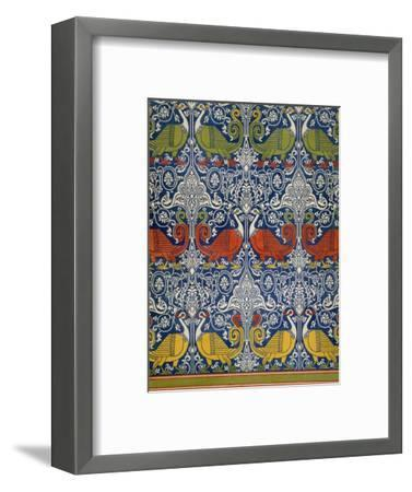 Example of Printed Egyptian Fabric, 19th Century (Chromolitho)-Emile Prisse d'Avennes-Framed Premium Giclee Print