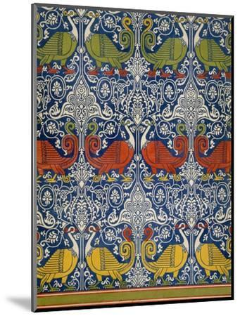 Example of Printed Egyptian Fabric, 19th Century (Chromolitho)-Emile Prisse d'Avennes-Mounted Premium Giclee Print