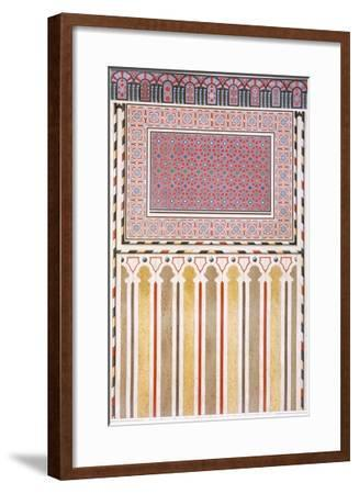 Cairo: Decoration of the El Bordeyny Mosque: Geometric Patterns of the Mosaic of the Mihrab-Emile Prisse d'Avennes-Framed Giclee Print