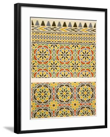 Geometric Ceramic (Faience) Decoration from the Mosque of Cheykhoun, 19th Century (Print)-Emile Prisse d'Avennes-Framed Giclee Print