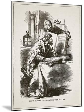 King Alfred Translating the Psalms (Litho)-English-Mounted Giclee Print