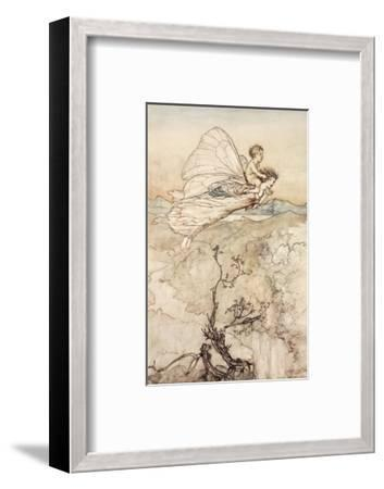 ..And Her Fairy Sent to Bear Him to My Bower in Fairy Land-Arthur Rackham-Framed Premium Giclee Print