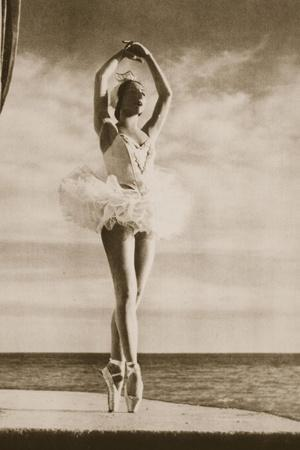 Rosella Hightower in Swan Lake, from 'Grand Ballet De Monte-Carlo', 1949 (Photogravure)-French Photographer-Stretched Canvas Print