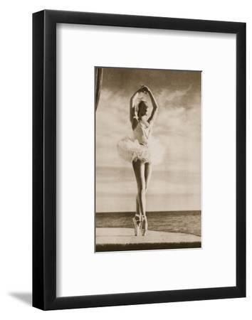 Rosella Hightower in Swan Lake, from 'Grand Ballet De Monte-Carlo', 1949 (Photogravure)-French Photographer-Framed Premium Giclee Print