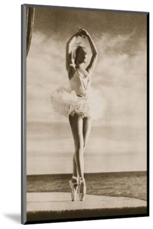 Rosella Hightower in Swan Lake, from 'Grand Ballet De Monte-Carlo', 1949 (Photogravure)-French Photographer-Mounted Premium Giclee Print