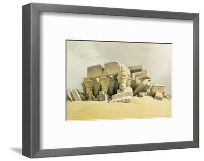 """Ruins of the Temple of Kom Ombo, from """"Egypt and Nubia"""", Vol.1 (Litho) (See also 84718)-David Roberts-Framed Premium Giclee Print"""